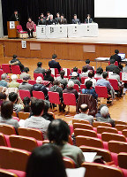 総合区と大阪都構想についての住民説明会=大阪市東成区で2017年1月28日、望月亮一撮影
