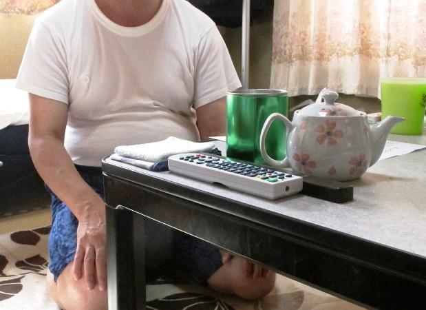 生活保護を受給しながらNPO法人「ほっとプラス」のシェアハウスで暮らす男性=さいたま市内で戸嶋誠司撮影