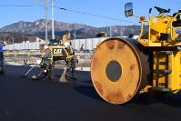以前とほぼ同じルートに切り替えられ、幅も広くなる山田町中心部の国道45号