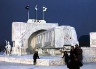 「オリンピックへ突っ走れ 札幌高速電車」=1971年、真駒内会場