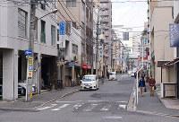 (11)毎日新聞広島支局跡周辺から北を撮影=広島市中区で2017年2月6日、山田尚弘撮影(画像の一部を加工しています)