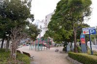 (12)原爆で崩壊した広島瓦斯(現広島ガス)本社の跡地は大手町第一公園に様変わりした=広島市中区で2017年2月6日、山田尚弘撮影