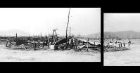 (13)パノラマ右 紙屋町交差点北から西練兵場などがあった北側の軍用地をパノラマ撮影(5枚を合成)。広島第一陸軍病院第一分院などが焼失している=1945年8月9日、広島城主任学芸員の玉置和弘氏検証