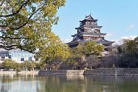 (14)広島城の城郭建築は原爆投下で倒壊か焼失。天守閣は1958年に再建された=広島市中区で2017年2月13日、山田尚弘撮影