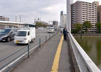 (15)現在の常葉橋。西から東方向を撮影=広島市南区で2017年2月6日、山田尚弘撮影