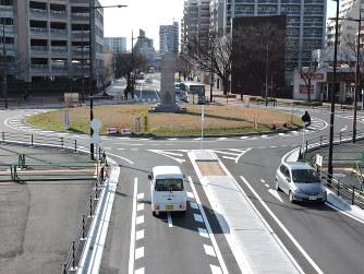 環状交差点:北九州のロータリー...