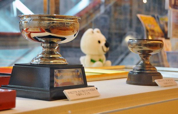 わかやまスポーツ・お宝を巡る:二つの国体天皇杯のレプリカ 新たな ...