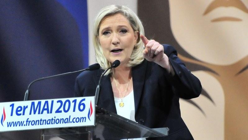 仏国民戦線のマリーヌ・ルペン党首(2016年5月)=賀有勇撮影
