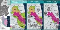 避難指示区域の変遷(※は総面積)
