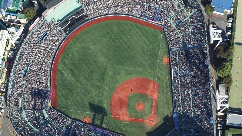 東京六大学野球が行われる神宮球場
