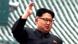 金正恩・朝鮮労働党委員長=2016年5月10日、大貫智子撮影