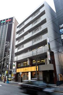 県内の商業地で地価の上昇率が最も高かった松岡第二ビル=名古屋市中村区名駅2で、大竹禎之撮影
