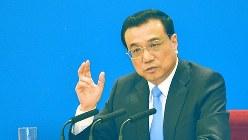 中国の李克強首相=2015年3月15日、工藤哲撮影