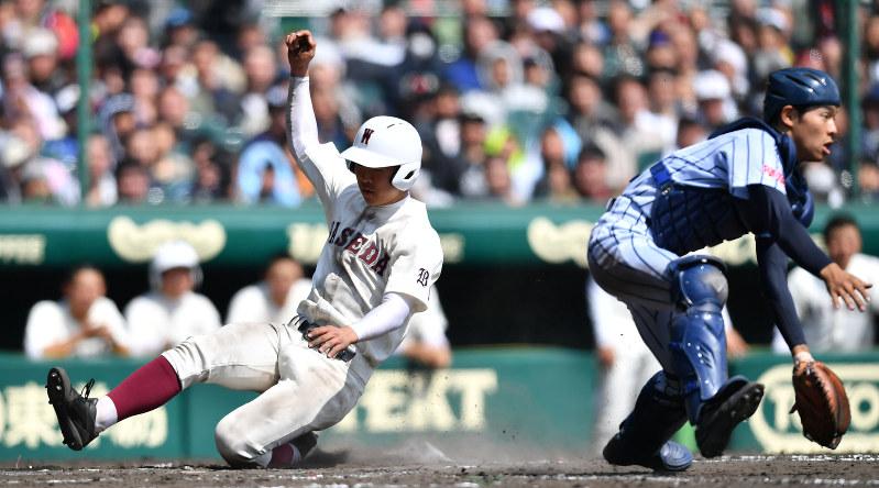 第89回選抜高校野球:早実、終盤...