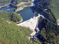 いぶき水力発電による小水力発電が始まる姉川ダム=滋賀県提供