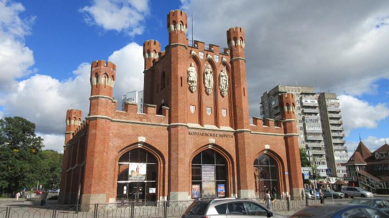 カリーニングラード旧市街の東の入り口「王の門」(写真は筆者撮影)