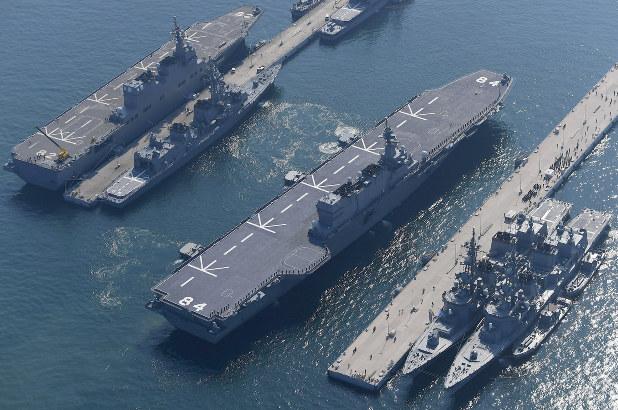 海自護衛艦:空母型「かが」、呉基地に初入港 - 毎日新聞