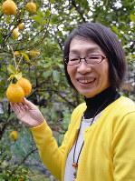 泉北レモンの街ストーリー代表の苅谷由佳さん=堺市南区高倉台1で、椋田佳代撮影