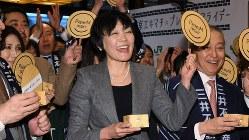 イベントに出席した安倍昭恵さん=2017年2月24日、根岸基弘撮影