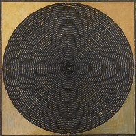 サイード・ハイダル・ラザ「クンダリニー」=1995年制作、福岡アジア美術館所蔵