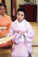 花街・元林院の再興目指す芸妓の大野菊乃さん=奈良市で、和田明美撮影