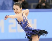 Mao Asada performs during the free program at the Sochi Olympics, on Feb. 20, 2014. (Mainichi Photo/Taichi Kaizuka)