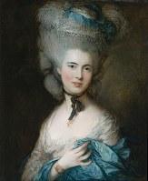 トマス・ゲインズバラ 「青い服を着た婦人の肖像」1770年代末~80年代初め(C)The State Hermitage Museum,St Petersburg,2017-18