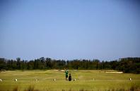 五輪ゴルフ場のコース脇にある練習場も利用者は少ない=ブラジル・リオデジャネイロで2017年2月17日午後1時27分、朴鐘珠撮影