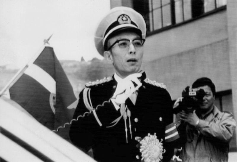 訓示する桂歌丸1日第一交通機動隊長=1986年4月撮影