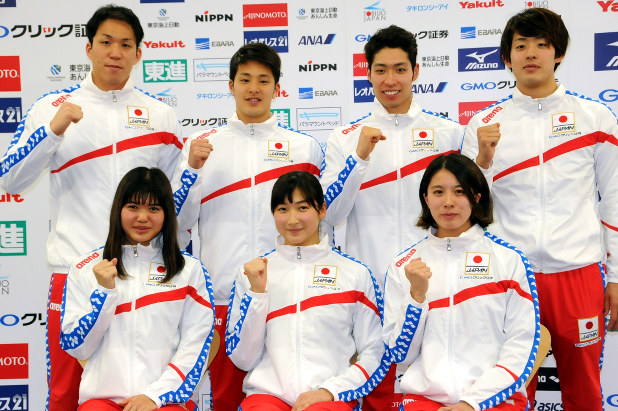 競泳:世界選手権の日本代表18人...