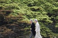 園遊会に臨まれる天皇、皇后両陛下=東京港区の赤坂御用地で2017年4月20日午後2時13分、小出洋平撮影