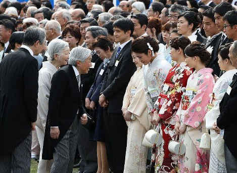 In Photos: Imperial Couple welcome guests at garden party