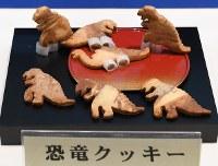 福井県の菓子「恐竜クッキー」=伊勢市で2017年4月20日、木葉健二撮影