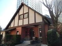 菊池智さんの熱意で見事に復元された西洋館=東京都港区虎ノ門4で、青山郁子撮影