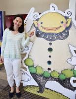 風と緑の楽都音楽祭宣伝部長のガルちゃん(生後2カ月)=金沢市昭和町の石川県立音楽堂で、久木田照子撮影