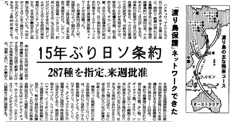 コウノトリ空へ 1988人工ふ化:...