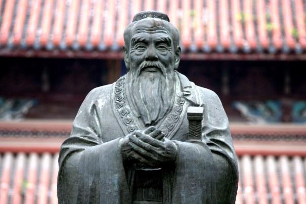 中国・蘇州の孔子廟孔子像