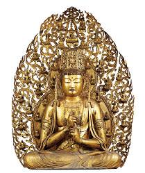 特別展覧会「国宝」に出展される大日如来坐像(12世紀、大阪・金剛寺)