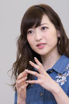 Actress Sayaka Kanda is pictured in this file photo in Osaka's Kita Ward on Jan. 27, 2017. (Mainichi)