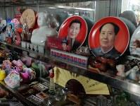 習近平主席の土産物も売られている=胡耀邦陵園の売店で