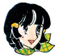 2代目美子ちゃん(1984年) 初代より少し大人っぽいのが特徴で、性格も少し控えめ。初代とは会社の先輩後輩の関係で共演も多い。作者は森里真美さん=学文社提供
