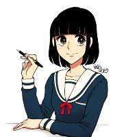 6代目美子ちゃん(2017年~) 舞台をツイッターに移して、1999年以来18年ぶりに広告漫画の連載が復活した。作者は服部昇大さん=学文社提供