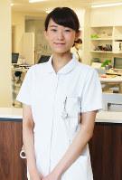 看護師の中西沙恵さん=岡山市北区中山下2の川崎医科大学総合医療センターで、竹田迅岐撮影