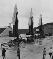 航空自衛隊長沼分屯基地に配備された地対空ミサイル「ナイキ」。「戦争に巻き込まれる」と住民による基地建設反対運動が起き、全国の注目を集めた=1973年9月