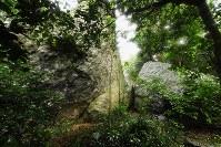 沖ノ島の7号遺構=福岡県宗像市の沖ノ島で2016年9月30日、須賀川理撮影