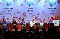 東京都内のホテルで始まった世界女性サミットの開会式=東京都港区で2017年5月11日午後6時17分、佐々木順一撮影