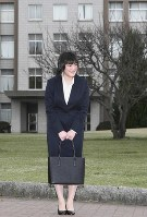 Princess Mako is seen before attending an entrance ceremony at International Christian University on April 2, 2010. (Pool photo)