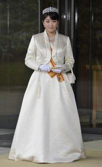 秋篠宮眞子さま=皇居で2011年10月23日午後2時12分、代表撮影