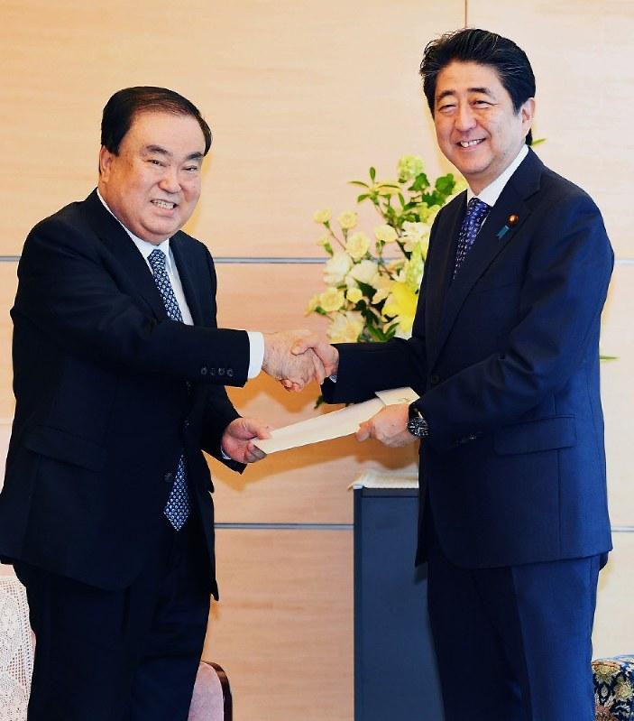 韓国特使:「シャトル外交復活を」 首相に親書 - 毎日新聞