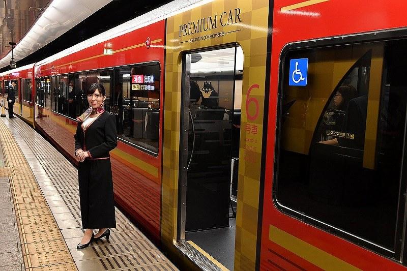 京阪電鉄:プレミアムカー公開 座席指定・高級感演出[写真特集 ...